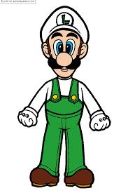 Coloriage Luigi  Sans Dépasser