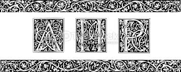 initials and ornamental border vector thinkstock