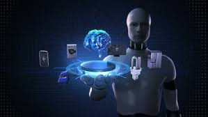 robot cyborg open palm smart house factory building car