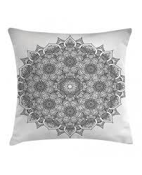 Ottoman Pillow Cushion by Throw Pillow Case Mandala Ottoman Floral Print Cushion Cover