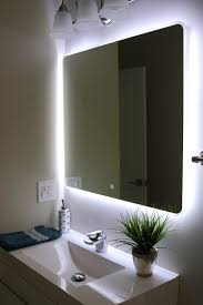 backlit bathroom vanity mirror with light 40 x 24 in