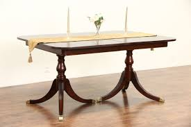 Drexel Dining Room Set Double Pedestal Farmhouse Table American Made Double Pedestal