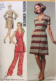 1970s simplicity designer dress or tunic and pants pattern 8871
