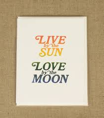 live by the sun by the moon margins