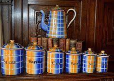 enamel kitchen canisters set of sky blue french enamel graniteware kitchen canisters