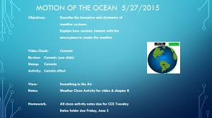 motion of the ocean unit 5 mini unit the connections between the