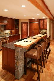 hickory wood chestnut yardley door kitchen island with bar