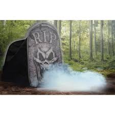tombstone macabre foggy halloween party haunted house decoration