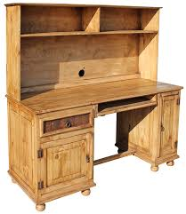 Pine Desk With Hutch Rustic Furniture Computer Mexican Rustic Pine Desk With Hutch