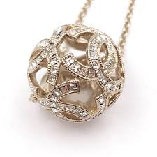 silver crystal ball necklace images Chanel brand new gold cc silver crystal ball necklace lar vintage jpg