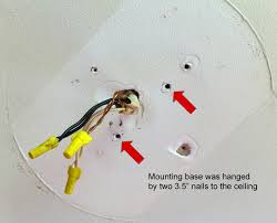 Installing A Ceiling Fan Box by Replacing Ceiling Fan No Electrical Box Electrical Diy