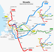 Marseille France Map by Transportation