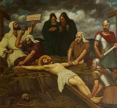 jesus is nailed to the cross painting originally painted by edward