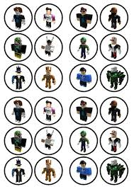 24 x transformers rice paper birthday cake toppers roblox boy character 3 edible wafer rice paper cake cupcake