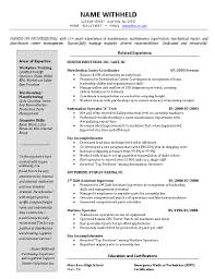 Resume Samples For Managers Sample Warehouse Manager Resume Resume Cv Cover Letter