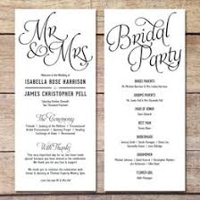 Simple Wedding Program Wedding Printable Collection Gift Ideas