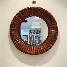 Large Arched Wall Mirror Wall Mirror Round Wood Frame Wall Mirror Distressed Wood Framed