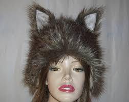 Coyote Halloween Costume Coyote Hat Etsy