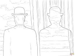 decalcomania by rene magritte coloring page free printable