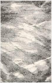Modern Contemporary Rug Safavieh Retro Ret2891 8012 Grey And Ivory Area Rug Bold Rugs