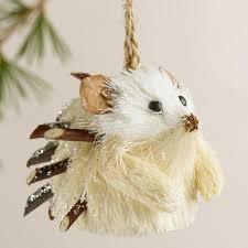 fiber hedgehog ornaments set of 4 world market