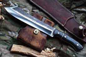 Handcrafted Kitchen Knives by Knife Store Cfk Custom Handmade Hammered 1095 High Carbon Parang