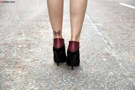 brilliant ankle tattoo of bow for girls golfian com