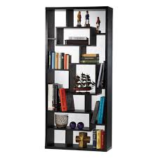 Narrow Bookcase Black by Furniture Modern Black Solid Wood Tall Narrow Open Booksshelf