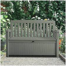 Garden Bench With Storage Plastic Garden Bench Plastic Garden Furniture Uk Tetbi Club