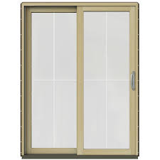 wood patio doors exterior doors the home depot 59 25 in x 79 5 in w 2500 dark chocolate prehung left hand