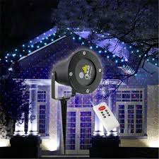 Outdoor Projection Lights For Christmas Red U0026 Blue Elf Laser Projector Waterproof Ip65 Outdoor Christmas