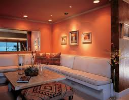 what color goes with orange walls burnt orange and brown living room new living room what color