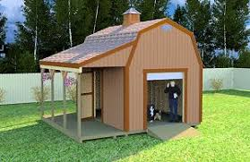 Gambrel Style Roof 12x16 Shed Plans