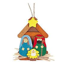 amazon com 12 pack of wooden nativity scene christmas tree