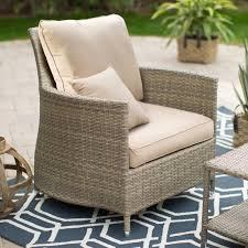 White Wicker Glider Loveseat by Belham Living Lindau All Weather Wicker Glider Chair With Cushion