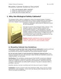 Cabinet Certification Biosafety Cabinets