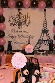 Paris Themed Party Supplies Decorations - parisian french paris pink pink and black birthday party ideas