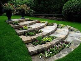 Flagstone Ideas For A Backyard 25 Trending Stone Landscaping Ideas On Pinterest Decorative