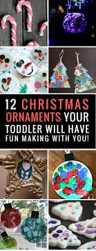 12 easy ornaments toddlers can make with a