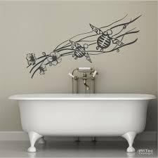 wandtattoo badezimmer hibiskus schildkröten wandtattoo badezimmer