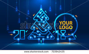 electronic christmas cards template new year christmas cards style stock vector 703942435