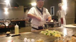 japanese restaurant cook at table you can only choose a table where they cook in front of you other