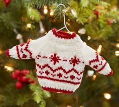 fair isle sweater ornament pottery barn