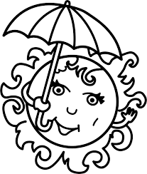 summer sun free coloring page wecoloringpage