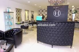 Reception Desk Black Salon Front Desk Black Reception Desk With Button