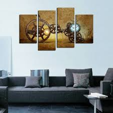 old modern nan wind large modern oil painting gears wall decor old paper