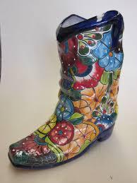 Cowboy Boot Planter by Talavera Cowboy Boot Planter Med 33cm X 30cm X 14cm