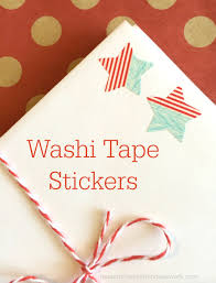 make your own stickers with washi tape washi tape crafts