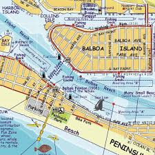 newport harbor newport bay franko s fabulous maps of