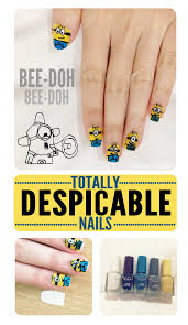 diy despicable me minion nail art tutorial personal diy projects